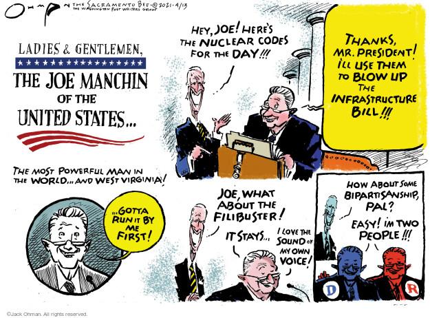 Jack Ohman  Jack Ohman's Editorial Cartoons 2021-04-13 senator