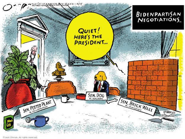 Jack Ohman  Jack Ohman's Editorial Cartoons 2021-04-15 senator