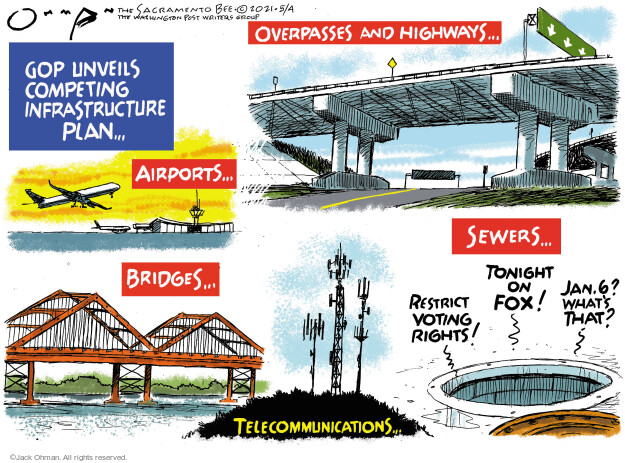 Jack Ohman  Jack Ohman's Editorial Cartoons 2021-05-04 voting rights
