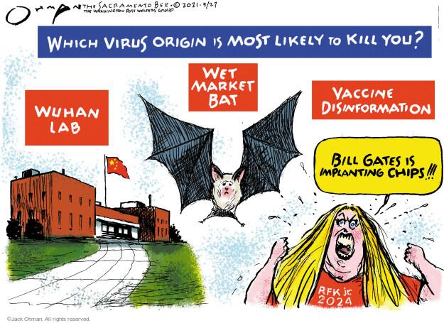 Jack Ohman  Jack Ohman's Editorial Cartoons 2021-05-27 outbreak