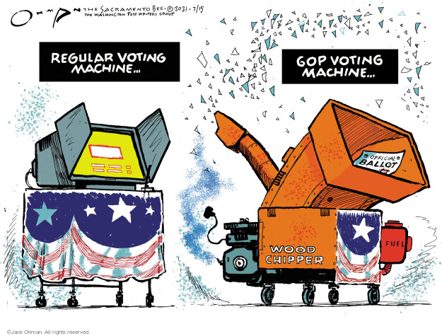 Jack Ohman  Jack Ohman's Editorial Cartoons 2021-07-15 voting rights