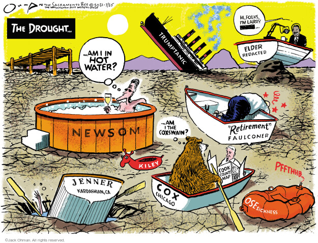 Jack Ohman  Jack Ohman's Editorial Cartoons 2021-07-25 editorial
