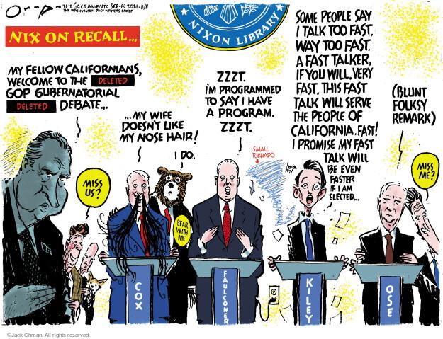 Jack Ohman  Jack Ohman's Editorial Cartoons 2021-08-08 former