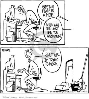 Comic Strip Ann Telnaes  Ann Telnaes Cartoons 2001-04-05 time