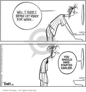 Comic Strip Ann Telnaes  Ann Telnaes Cartoons 2000-03-09 time