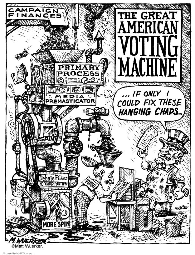 Cartoonist Matt Wuerker  Matt Wuerker's Editorial Cartoons 2000-11-08 fix