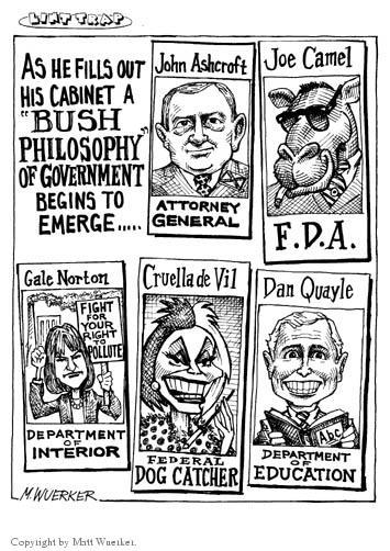 Cartoonist Matt Wuerker  Matt Wuerker's Editorial Cartoons 2001-01-09 attorney general