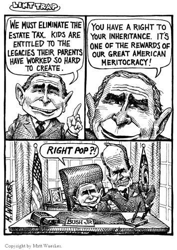 Matt Wuerker  Matt Wuerker's Editorial Cartoons 2001-02-12 Bush tax cut