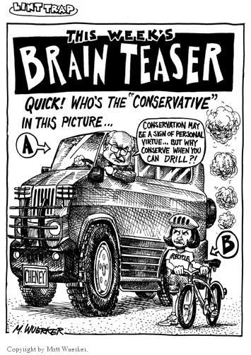Cartoonist Matt Wuerker  Matt Wuerker's Editorial Cartoons 2001-04-30 conservation