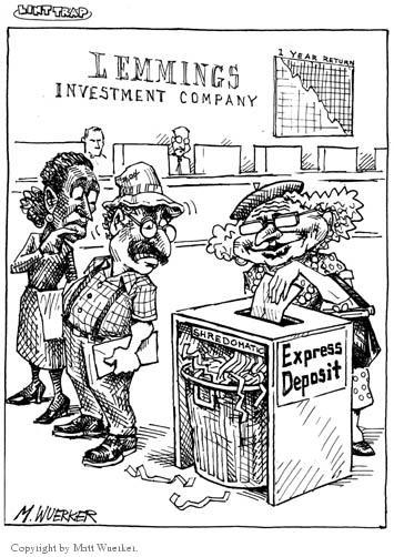 Cartoonist Matt Wuerker  Matt Wuerker's Editorial Cartoons 2002-04-15 business