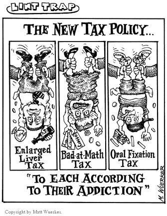 Cartoonist Matt Wuerker  Matt Wuerker's Editorial Cartoons 2002-00-00 tax