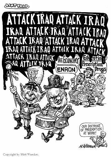 Cartoonist Matt Wuerker  Matt Wuerker's Editorial Cartoons 2002-07-22 vice president