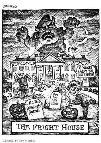 Cartoonist Matt Wuerker  Matt Wuerker's Editorial Cartoons 2002-08-05 conflict
