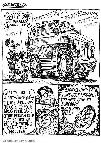 Cartoonist Matt Wuerker  Matt Wuerker's Editorial Cartoons 2002-09-23 monster