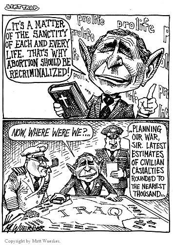 Cartoonist Matt Wuerker  Matt Wuerker's Editorial Cartoons 2002-10-07 military