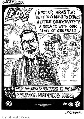 Cartoonist Matt Wuerker  Matt Wuerker's Editorial Cartoons 2002-12-02 media bias