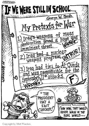 Cartoonist Matt Wuerker  Matt Wuerker's Editorial Cartoons 2003-02-10 student