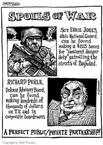 Cartoonist Matt Wuerker  Matt Wuerker's Editorial Cartoons 2003-10-08 military