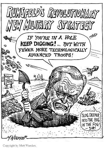 Cartoonist Matt Wuerker  Matt Wuerker's Editorial Cartoons 2003-11-26 military