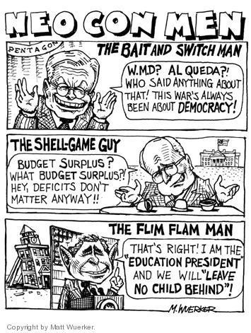 Cartoonist Matt Wuerker  Matt Wuerker's Editorial Cartoons 2004-02-04 vice president