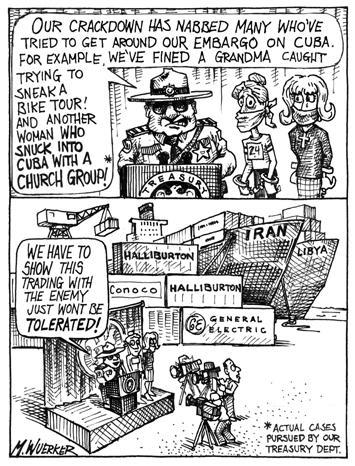 Matt Wuerker  Matt Wuerker's Editorial Cartoons 2004-02-12 enemy