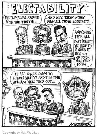Cartoonist Matt Wuerker  Matt Wuerker's Editorial Cartoons 2004-02-27 electoral college