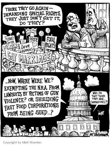 Cartoonist Matt Wuerker  Matt Wuerker's Editorial Cartoons 2004-04-02 gun violence