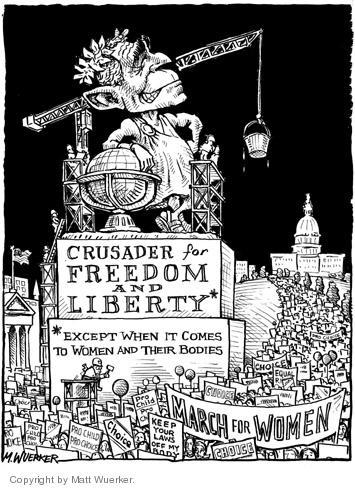 Cartoonist Matt Wuerker  Matt Wuerker's Editorial Cartoons 2004-04-26 reproductive