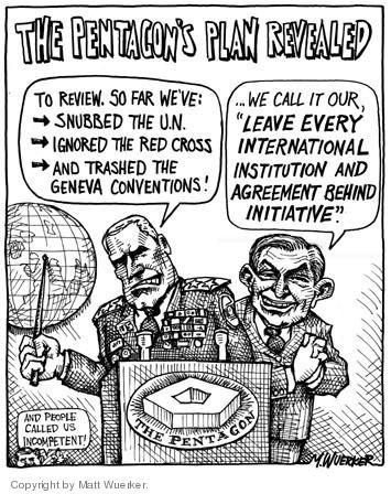 Cartoonist Matt Wuerker  Matt Wuerker's Editorial Cartoons 2004-06-18 military