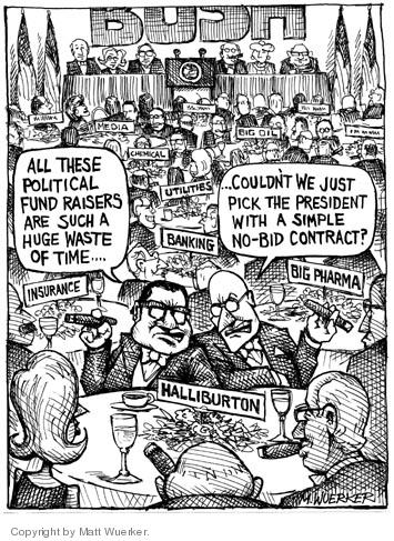 Cartoonist Matt Wuerker  Matt Wuerker's Editorial Cartoons 2004-07-29 cronyism