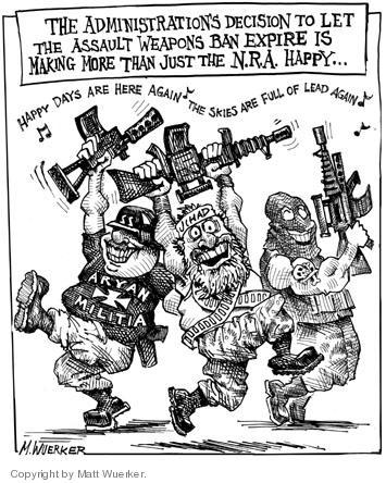 Matt Wuerker  Matt Wuerker's Editorial Cartoons 2004-08-06 handgun