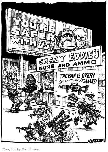 Matt Wuerker  Matt Wuerker's Editorial Cartoons 2004-09-30 handgun