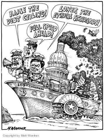 Cartoonist Matt Wuerker  Matt Wuerker's Editorial Cartoons 2004-11-23 debt ceiling