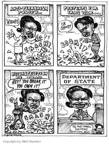 Cartoonist Matt Wuerker  Matt Wuerker's Editorial Cartoons 2005-01-18 State Department