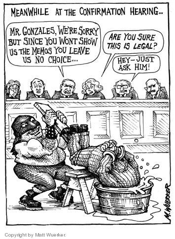 Cartoonist Matt Wuerker  Matt Wuerker's Editorial Cartoons 2005-01-07 attorney general