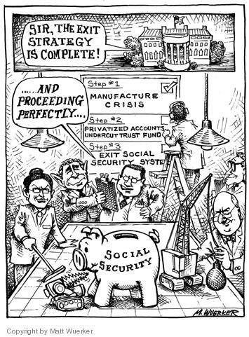 Matt Wuerker  Matt Wuerker's Editorial Cartoons 2005-02-25 credible