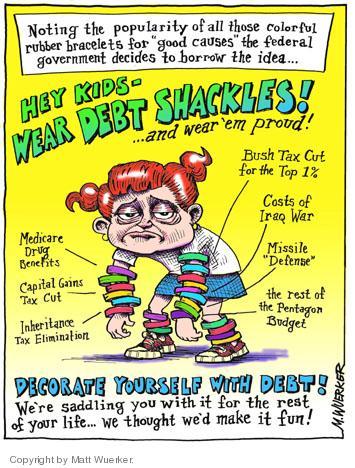 Cartoonist Matt Wuerker  Matt Wuerker's Editorial Cartoons 2005-03-11 George W. Bush economy
