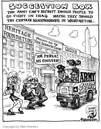 Cartoonist Matt Wuerker  Matt Wuerker's Editorial Cartoons 2005-06-24 military
