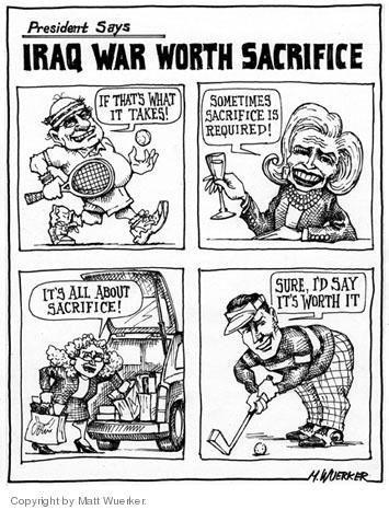 Cartoonist Matt Wuerker  Matt Wuerker's Editorial Cartoons 2005-06-30 excess