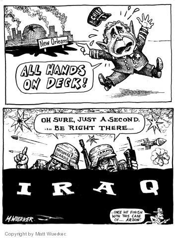 Cartoonist Matt Wuerker  Matt Wuerker's Editorial Cartoons 2005-09-02 military