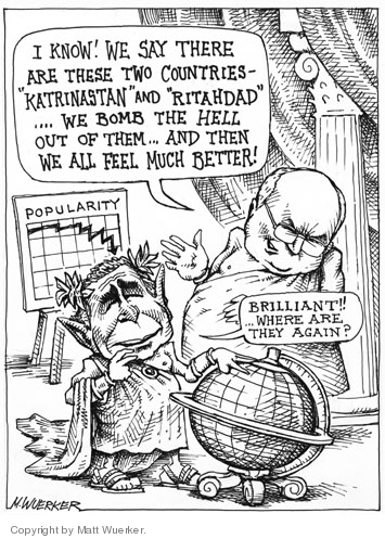 Matt Wuerker  Matt Wuerker's Editorial Cartoons 2005-09-28 international