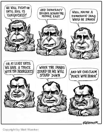 Cartoonist Matt Wuerker  Matt Wuerker's Editorial Cartoons 2005-11-15 George W. Bush