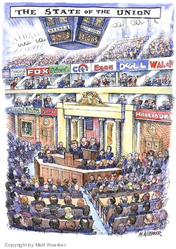 Matt Wuerker  Matt Wuerker's Editorial Cartoons 2006-01-27 Cheney Halliburton
