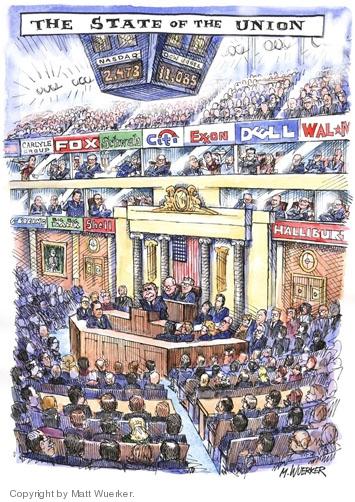 Cartoonist Matt Wuerker  Matt Wuerker's Editorial Cartoons 2006-01-27 cronyism