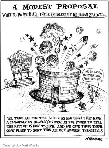 Cartoonist Matt Wuerker  Matt Wuerker's Editorial Cartoons 2006-03-02 religious extremism