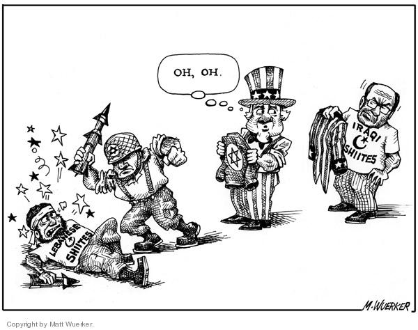 Cartoonist Matt Wuerker  Matt Wuerker's Editorial Cartoons 2006-08-11 conflict
