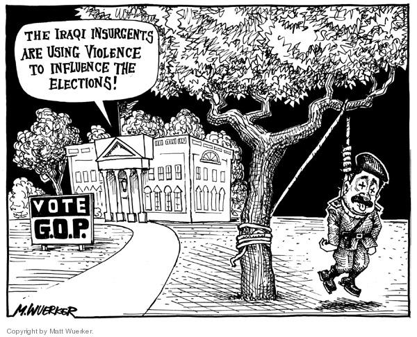 Matt Wuerker  Matt Wuerker's Editorial Cartoons 2006-11-07 manipulate