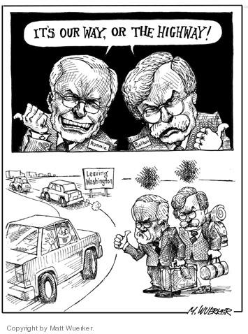 Cartoonist Matt Wuerker  Matt Wuerker's Editorial Cartoons 2006-12-07 highway
