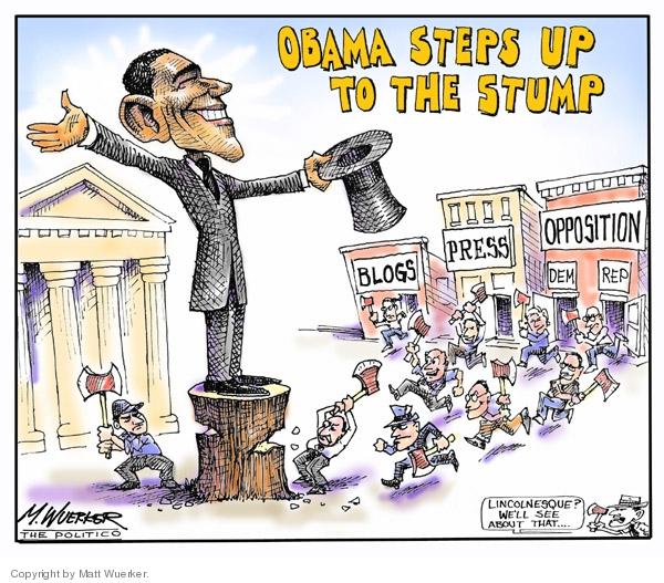 Cartoonist Matt Wuerker  Matt Wuerker's Editorial Cartoons 2007-02-12 Abraham Lincoln