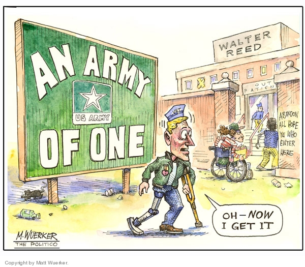 Cartoonist Matt Wuerker  Matt Wuerker's Editorial Cartoons 2007-03-16 army